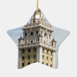 Cuban Freedom Tower in Miami Ceramic Ornament