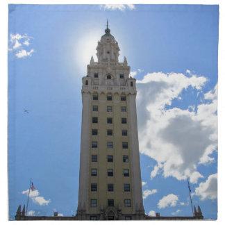 Cuban Freedom Tower in Miami Cloth Napkin