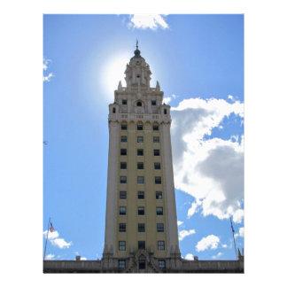 Cuban Freedom Tower in Miami Custom Letterhead