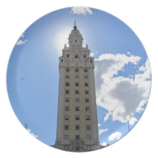 Cuban Freedom Tower in Miami Plates