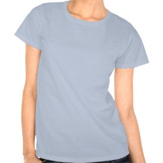Cuban Girl Silhouette Flag T Shirts