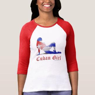Cuban Girl Silhouette Flag Tees