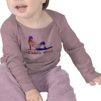 Cuban Girl Silhouette Flag Shirt