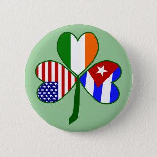 Cuban Shamrock Green Background 2 Inch Round Button