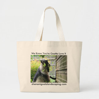 Cubbs on a Wall Large Tote Bag