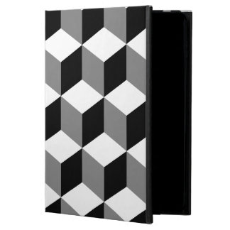 Cube Big Pattern Black White & Grey Powis iPad Air 2 Case