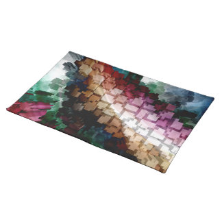 Cube Centric Dark Wind Placemat