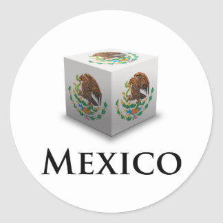 Cube Mexico Classic Round Sticker