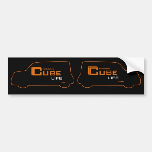 Cube Nissan Cube Like Stickers Bumper Sticker
