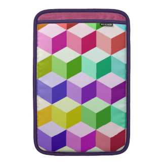 Cube Pattern Multicolored MacBook Sleeve