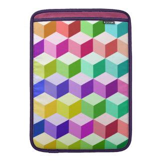 Cube Pattern Multicolored MacBook Sleeves