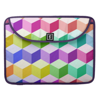 Cube Pattern Multicolored Sleeves For MacBook Pro