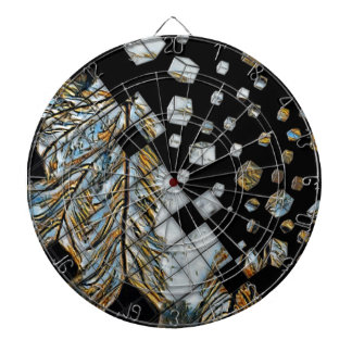 Cubed Abstract Feathers Dartboard