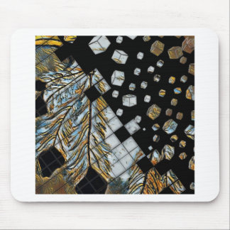 Cubed Abstract Feathers Mouse Pad