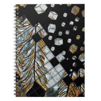 Cubed Abstract Feathers Notebook