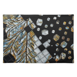Cubed Abstract Feathers Placemat