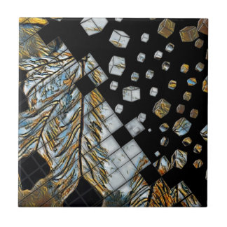Cubed Abstract Feathers Tile