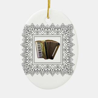 cubed accordion ceramic oval ornament