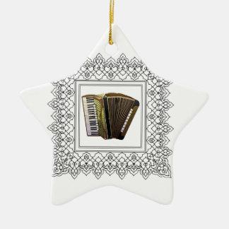 cubed accordion ceramic star ornament