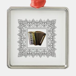 cubed accordion Silver-Colored square ornament