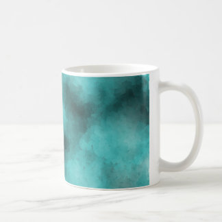 CUBED BLUE WHITE BLACK BACKGROUNDS TEXTURES TEMPLA COFFEE MUG