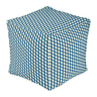 Cubed Comforter, Diamond Pattern Design Pouf