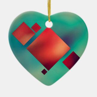 Cubed In Surrealism Ceramic Ornament