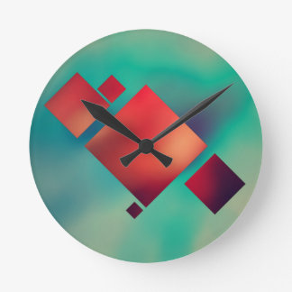 Cubed In Surrealism Round Clock