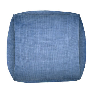 Cubed Pouf print with blue canvas