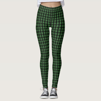 Cubed Shades-of Green Model#1-A Modern Leggings