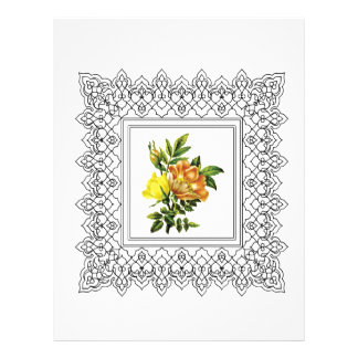 cubed yellow flowers customized letterhead