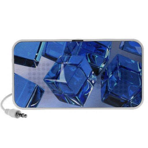 cubes bleus mini haut-parleurs