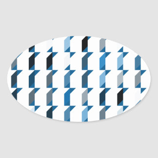 cubes-blue-02 oval sticker