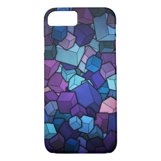 cubes blue Geometric Colorful iPhone 7 Case