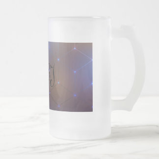cubes frosted glass beer mug