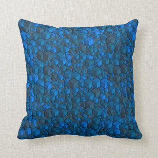 Cubes Grays and Blues Pillow