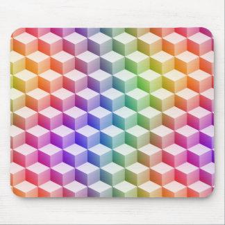 Cubes ombragés en regard 3D colorés par Tapis De Souris