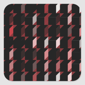 cubes-red-05 square sticker