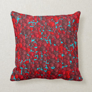 Cubes Reds and Blue Pillow