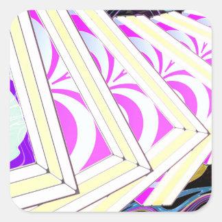 Cubes Square Sticker