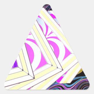 Cubes Triangle Sticker