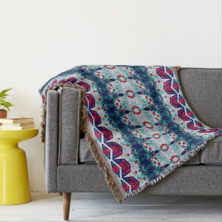 Cubic Flowers Throw
