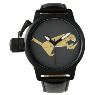 Cubic Lion Design Watch