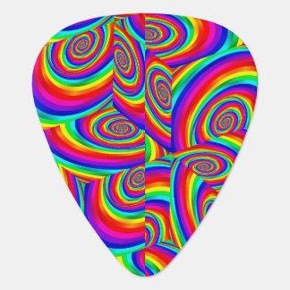 Cubic Rainbow Fractal Guitar Pick