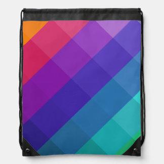 Cubical Colors Drawstring Bag