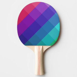 Cubical Colors Ping Pong Paddle