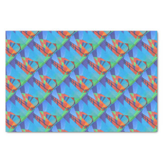 Cubist Abstract Junk Boat Against Deep Blue Sky Tissue Paper