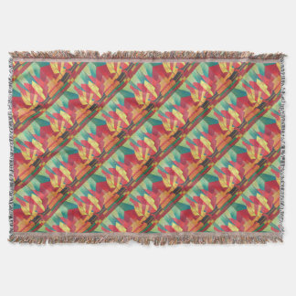 Cubist Abstract of Junk Sails and Ocean Skies Throw Blanket
