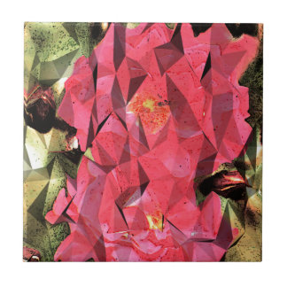 Cubist Abstract Roses Tile