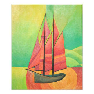 Cubist Abstract Sailing Boat Photo